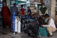 Sudah 11 Hari, Stok Tabung Oksigen di Pasar Pramuka Masih Kosong