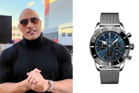 Arloji Breitling Ratusan Juta Rupiah di Tangan The Rock