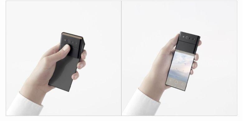 Oppo pamerkan ponsel dengan mekanisme tiga lipatan
