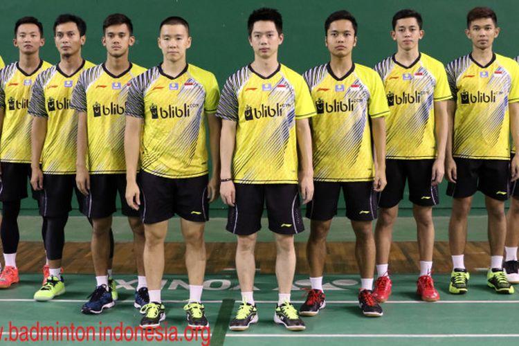 Skuad Piala Thomas Indonesia 2018.