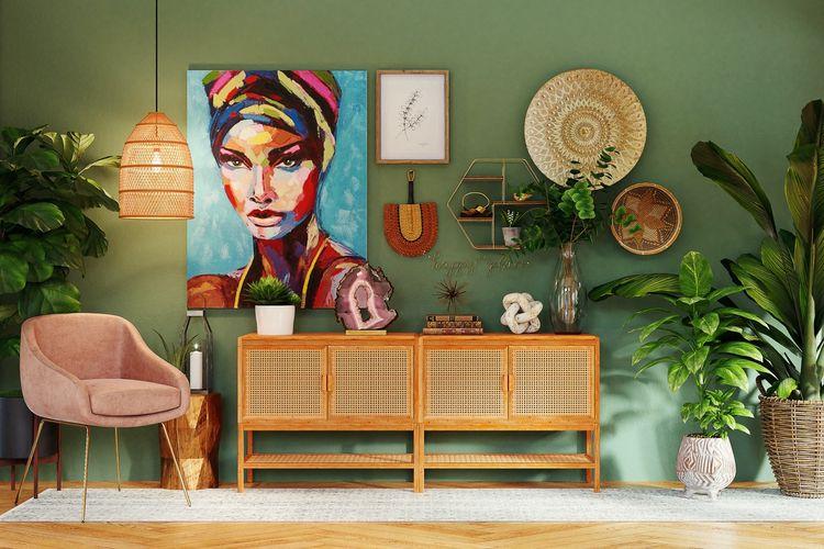 Ilustrasi dekorasi ruangan.