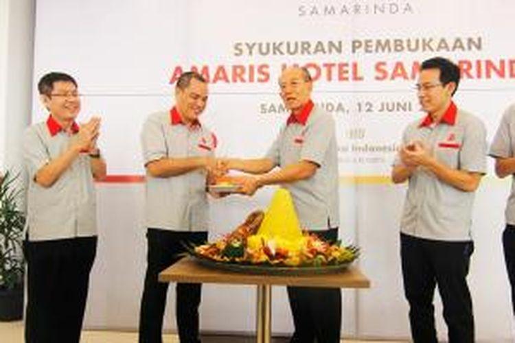 Acara syukuran dan peresmian Hotel Amaris Samarinda, Kalimantan Timur, Kamis (12/6/2014).