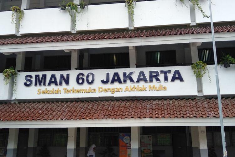 SMA 60 yang berada di kawasan Mampang Prapatan, Jakarta Selatan, Senin (21/1/2020)