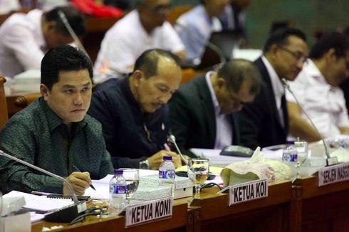 Erick Thohir Dicecar Soal Penggunaan Dana Asian Games