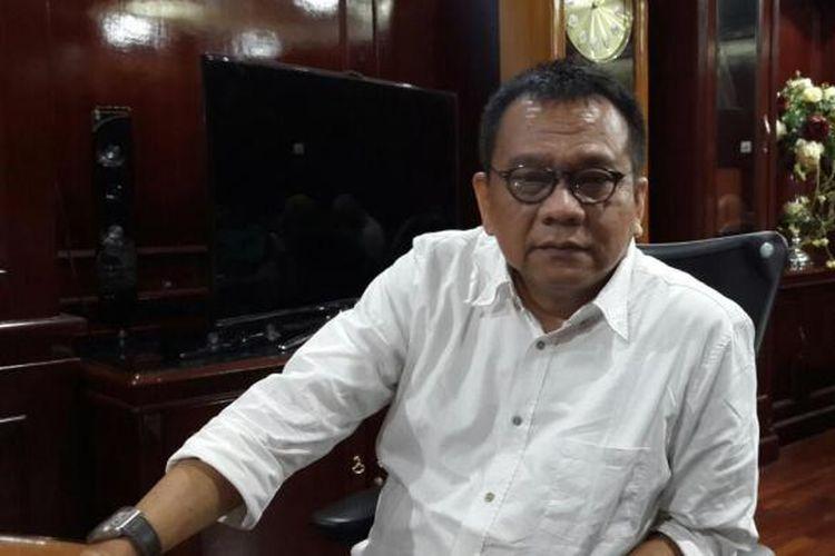 Wakil Ketua DPRD DKI Muhammad Taufik di ruangannya, lantai 9 Gedung DPRD, Jalan Kebon Sirih, Jakarta Pusat.