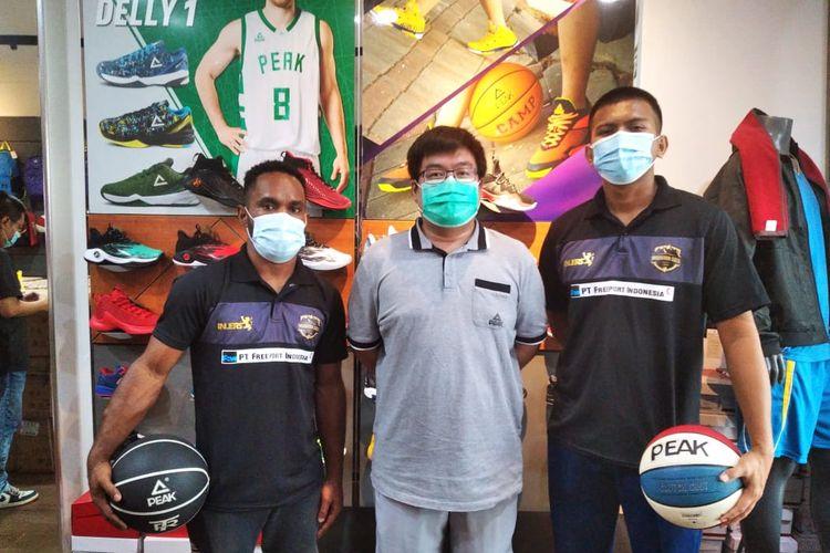 Klub anggota IBL NSH Mountain Gold meneken kerja sama untuk kali ketiga dengan PEAK Indonesia pada Rabu (6/1/2021).