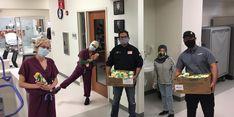 Dompet Dhuafa AS Bagikan Paket Makanan ke Petugas Medis