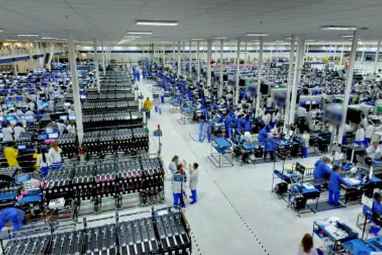Ilustrasi pabrik ponsel