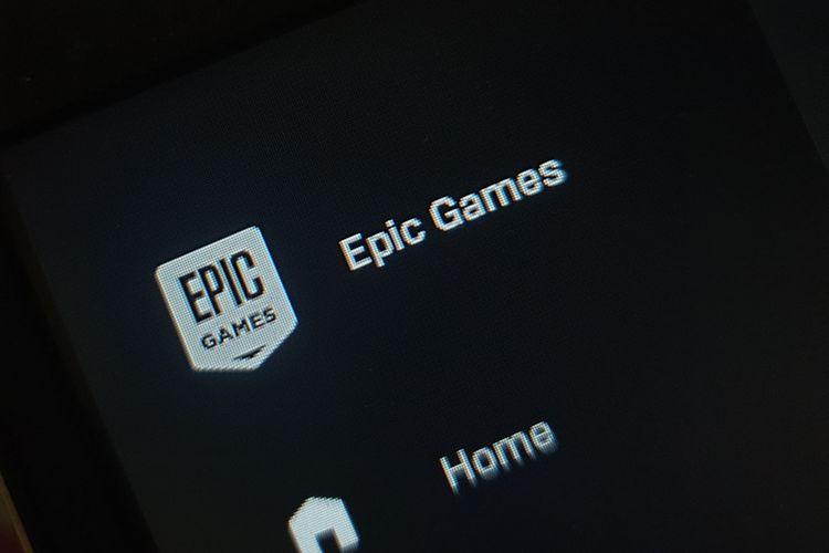 Ilustrasi logo Epic Games.