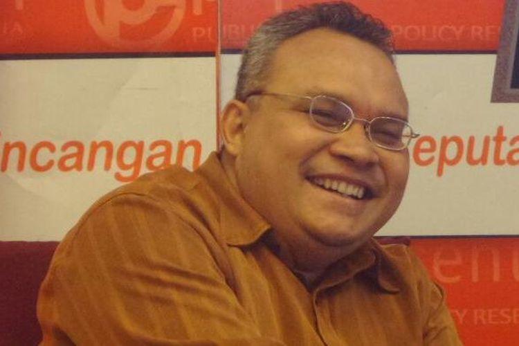 Koordinator Komite Pemantauan Pelaksanaan Otonomi Daerah, Robert Endi Jaweng di Jakarta, Sabtu (7/1/2017)