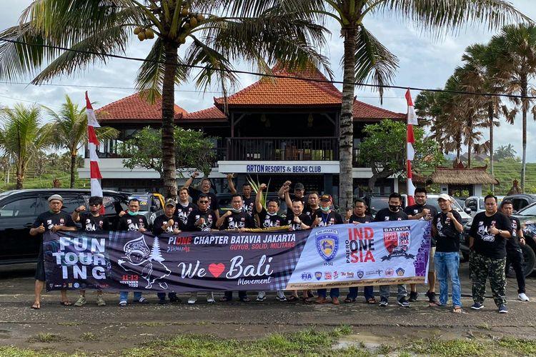 Pajero Indonesia ONE (PI.ONE) dari beberapa chapter yang ada di wilayah Jabodetabek dan Banten yang mendapat undangan dari IMI DKI Jakarta untuk melaksanakan kegiatan Touring We Love Bali 2020.