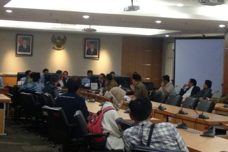 Rapat perdana panitia Khusus (pansus) pemilihan wakil gubernur DKI Jakarta di DPRD DKI Jakarta pada Senin (20/5/2019).