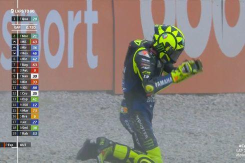 Live MotoGP GP Catalunya 2020, Rossi Terjatuh!
