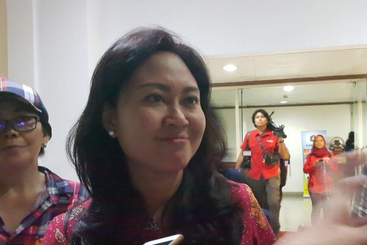 Istri Pelaksana Tugas (Plt) Gubernur DKI Jakarta Djarot Saiful Hidayat, Happy Farida, di Balai Kota DKI Jakarta, Jalan Medan Merdeka Selatan, Selasa (9/5/2017).