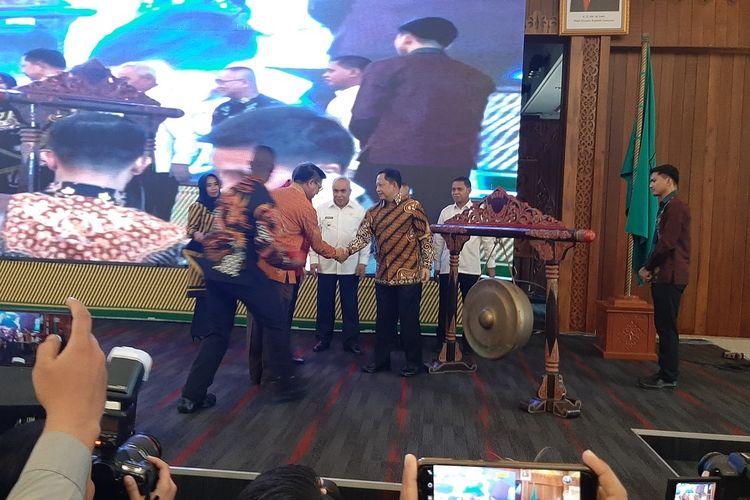 Menteri Dalam Negeri Tito Karnavian membuka musyawarah rencana pembangunan (musrenbang) regional Kalimantan yang dipusatkan di Kota Pontianak, Kalimantan Barat, Rabu (19/2/2020).