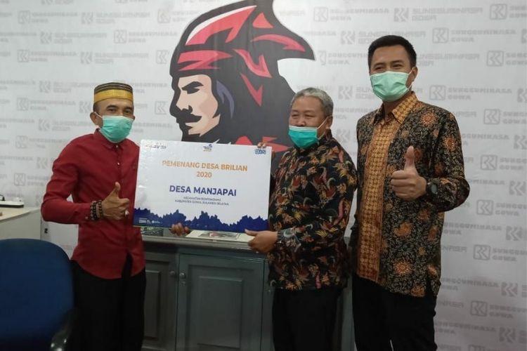 Desa Manjapai, Kecamatan Bontonompo, Kabupaten Gowa, Sulawesi Selatan, terpilih menjadi salah satu pemenang Desa BRILian 2020.