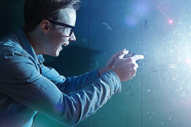 Ilustrasi gamer, game online.