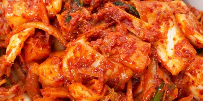 Kimchi, makanan fermentasi khas Korea.