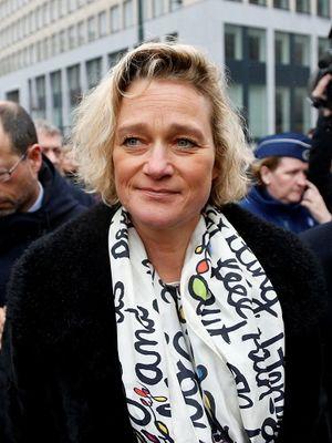 Seniman Belgia Delphine Boel berada di Brussels pada 21 Februari 2017. (REUTERS/Francois Lenoir)
