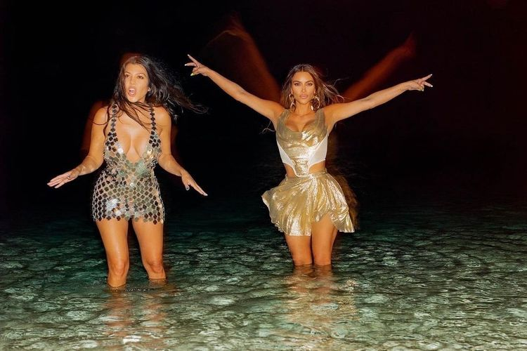 Kim Kardashian ketika merayakan ulang tahunnya yang ke-40.