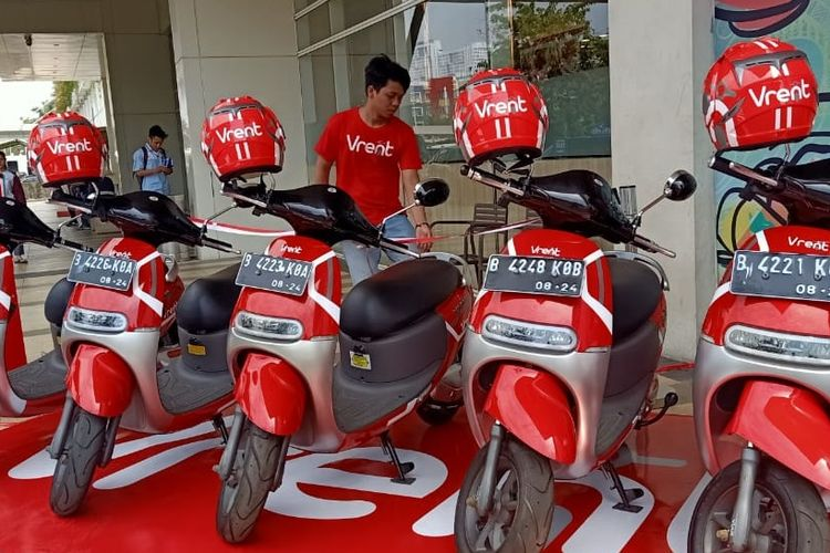 Vrent, penyewaan sepeda motor listrik Viar