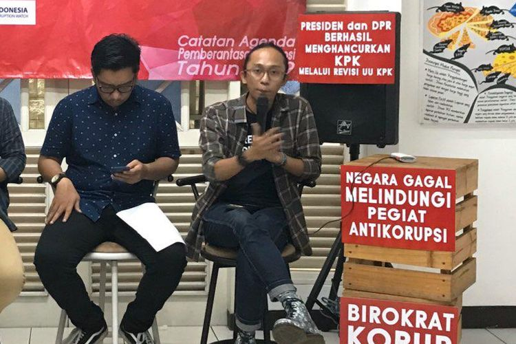 Peneliti Indonesia Corruption Watch (ICW) Wana Alamsyah.