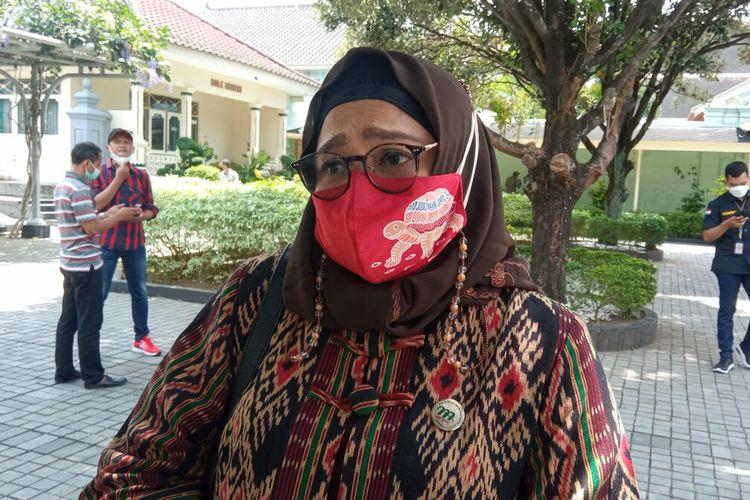 Kepala Dishub DIY Ni Made saat ditemui di Komplek Kepatihan, Jumat (24/9/2021)