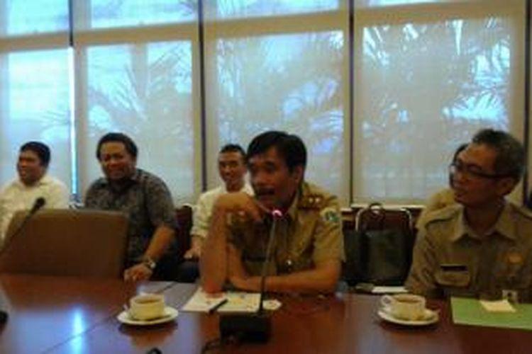 Wakil Gubernur DKI Jakarta, Djarot Saiful Hidayat, berkunjung ke kantor redaksi Harian Kompas, Rabu (7/1/2015).
