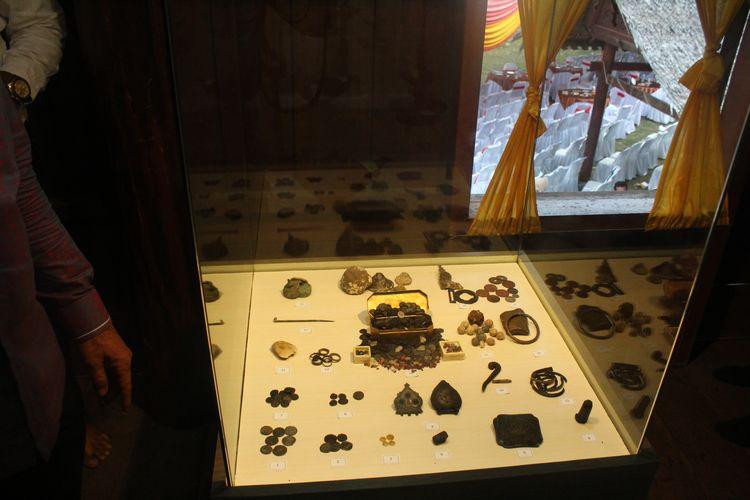 Koin emas koleksi Museum Lhokseumawe, Aceh, Sabtu (19/10/2019)
