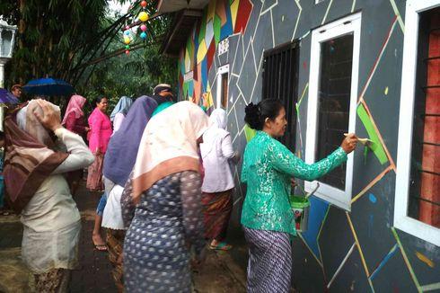 Semangat Emak-emak Wujudkan Kampung Tidar Jadi Kampung Pelangi