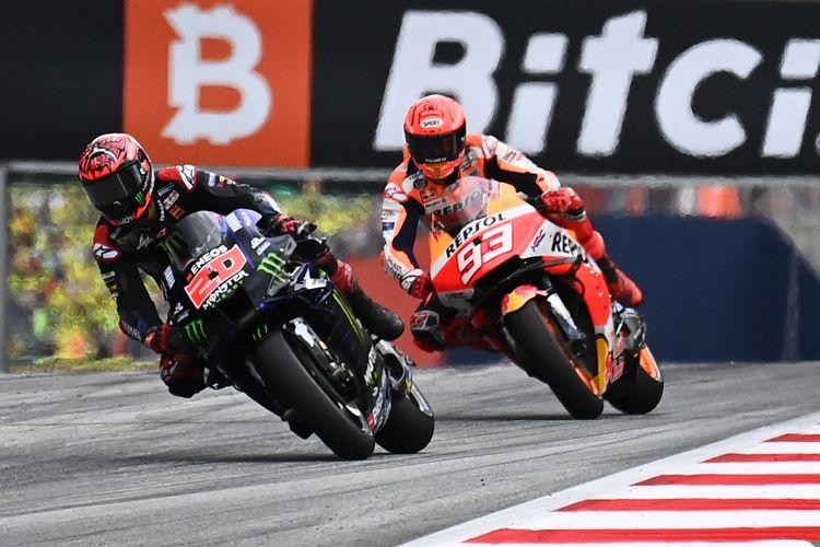 Marc Marquez saat berlaga pada MotoGP Austria 2021. (Photo by Joe Klamar / AFP)