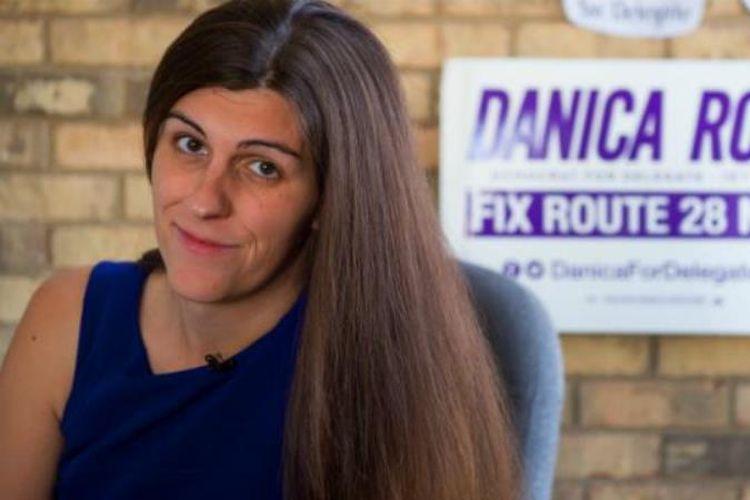 Danica Roem terpilih sebagai anggota legislatif pertama di negara bagian Virginia, AS, Selasa (7/11/2017). (The Hill)