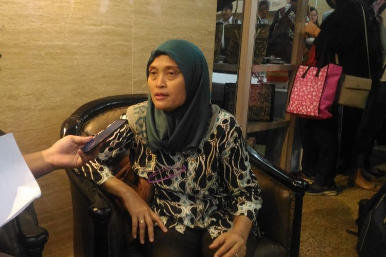 Komisioner Komisi Nasional Anti Kekerasan Terhadap Perempuan (Komnas Perempuan) Sri Nurherwati di kantor KPPA, Jakarta Pusat, Jumat (22/2/2019).