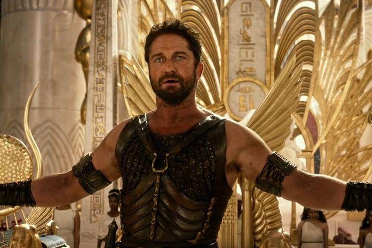 Gerard Butler dalam film Gods of Egypt