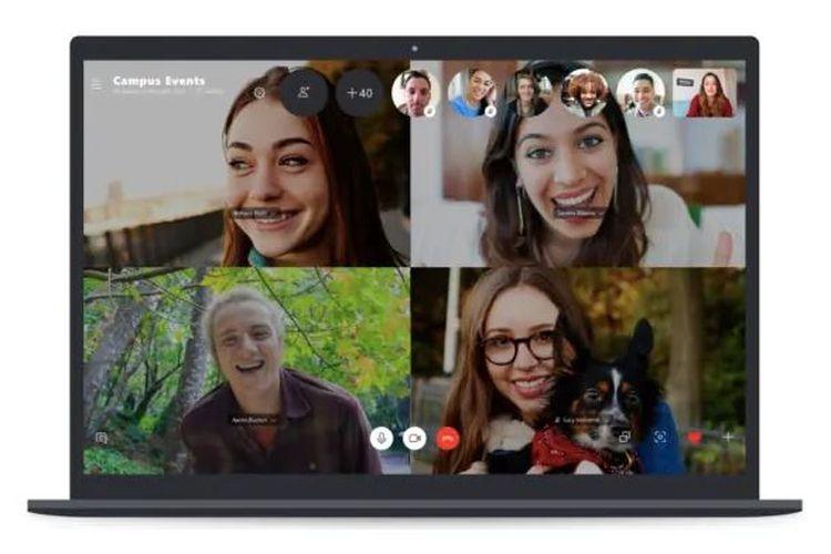 Ilustrasi Skype Video Call