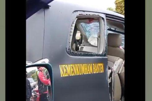 Mobil Dinas Kanwil Kemenkumham Banten Alami Kecelakaan Lalu Lintas di Cipondoh