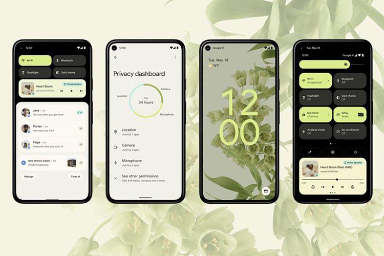 Android 12 memiliki tampilan baru dengan bahasa desain Material You
