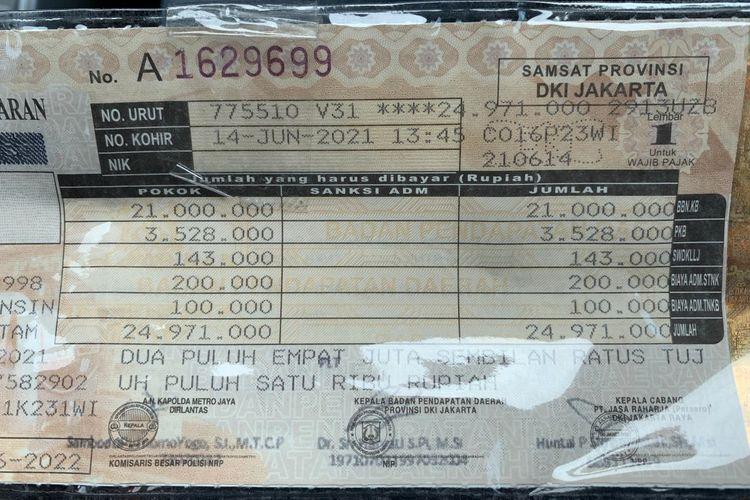 Ilustrasi STNK milik Daihatsu Rocky 1.000 cc turbo