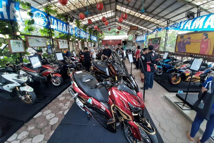 Putaran semifinal pertama CustoMAXI x Yamaha Heritage Built di Bekasi, Jawa Barat, Sabtu (18/1/2020).