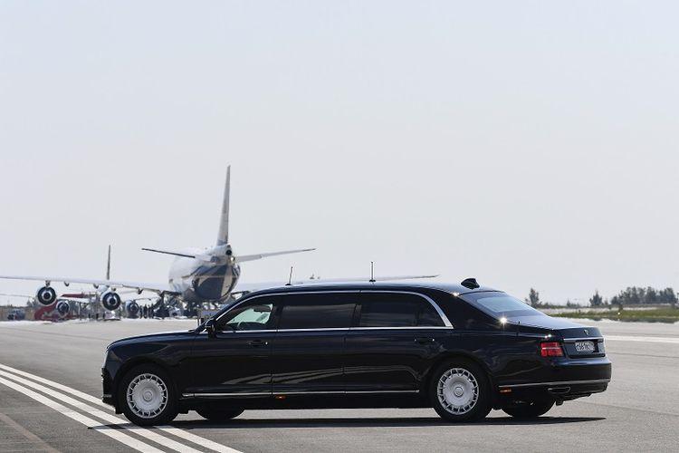 Inilah mobil limosin Kortezh yang menjadi mobil resmi Presiden Rusia Vladimir Putin dalam pertemuan dengan Presiden AS Donald Trump di Helsinki, Finlandia.