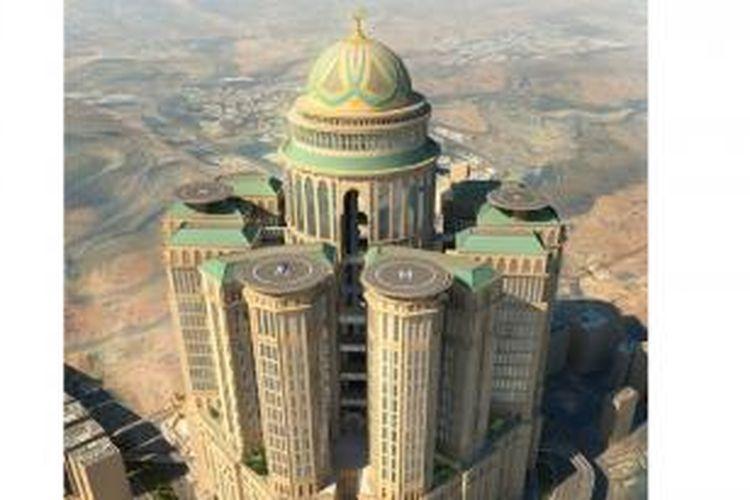 Megakompleks Abraj Kudai yang berdekatan dengan Masjidil Haram, Mekkah, Saudi Arabia.