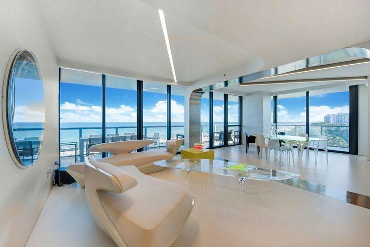 Kondominium Zaha Hadid dengan perabot yang serba futuristik