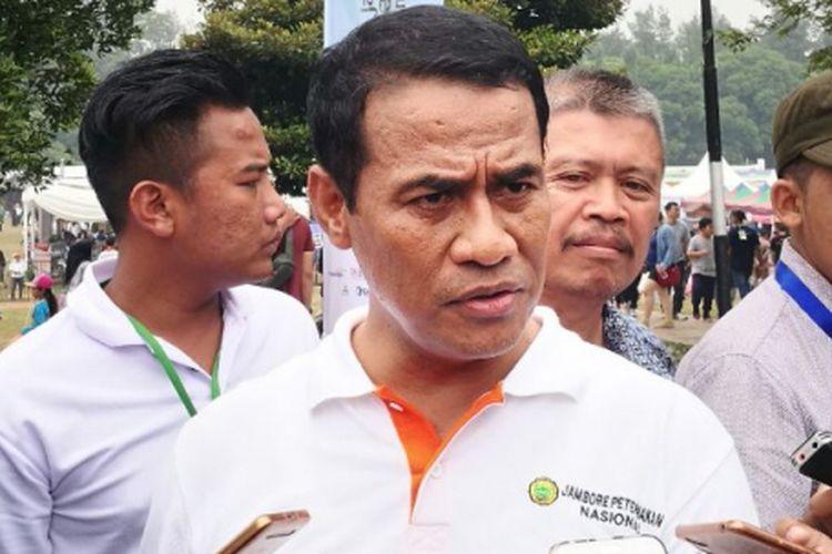 Menteri Pertanian, Andi Amran Sulaiman di Bumi Perkemahan Cibubur, Jakarta, Minggu (24/9/2017).