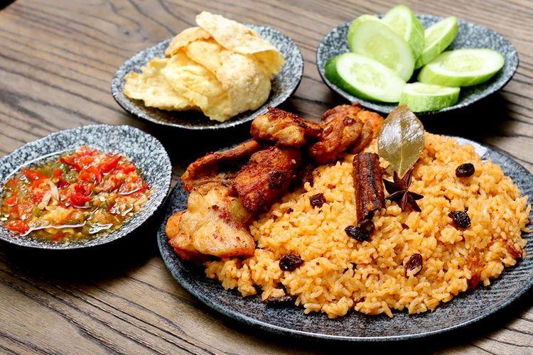 Kreasi nasi kebuli rice cooker dari chef Devina Hermawan.