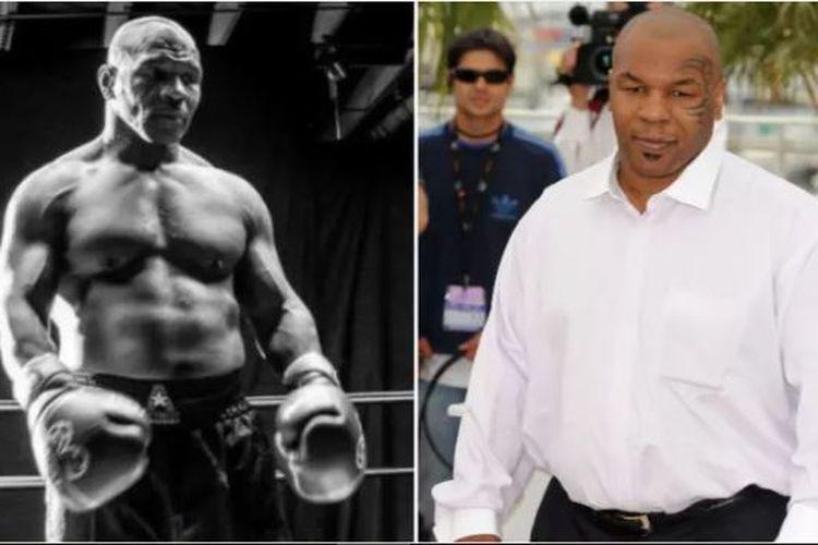 Mike Tyson setelah berlatih untuk bertanding tinju dibanding sebelumnya ketika ia tidak berlatih