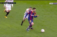 VIDEO - Bek Sevilla Habis Akal Kejar Messi, Langsung Tarik Baju