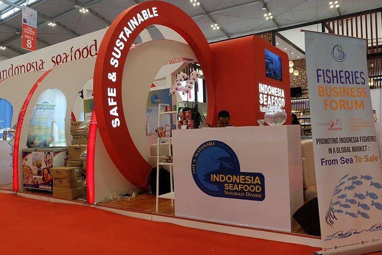 Transaksi produk perikanan mencapai 10,43 juta dollar AS atau sekitar Rp 146,02 miliar di pameran dagang internasional Trade Expo Indonesia (TEI) 2019.