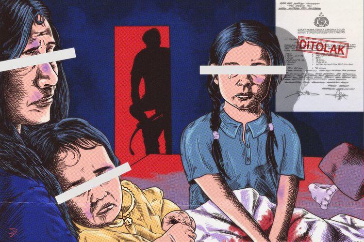 Ilustrasi penghentian proses penyelidikan oleh polisi dalam kasus kekerasan seksual di Luwu Timur, Sulawesi Selatan.