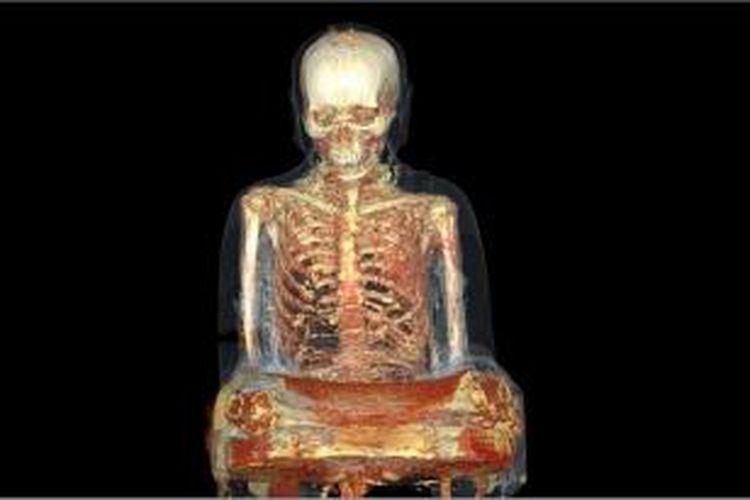 Hasil CT Scan mengungkap adanya mumi biksu berusia 1.000 tahun dalam patung Buddha kuno asal China.