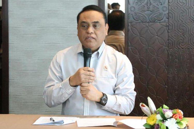 Menpan RB Syafruddin saat jumpa pers seusai Rapat Koordinasi Penyampaian Rincian Penetapan Kebutuhan Formasi PNS dan Persiapan Pengadaan CPNS Tahun 2018 di Jakarta, Kamis (06/09/2018).
